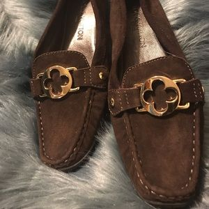 NWOT Brown Suede Louis Vuitton Loafers SZ:39